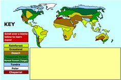 Biomes - Interactive Learning Sites for Education Interactive Learning, Interactive Map, Science Topics, Science Activities, Learning Sites, Biomes, Science Classroom, Geography, Middle School