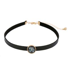 Short Black Imitation Leather Choker Necklace Trendy Round Charm Best Friend Collier Femme Gothic Necklace Jewelry