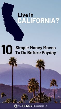 Let's say you live in the Golden State, you're getting squeezed by crazy-high housing costs and your finances could use some serious TLC, but you've been putting it off. Here are some simple steps you can take today to get your finances under control. Mo Money, Money Tips, Money Saving Tips, Savings Plan, Budgeting Money, Financial Tips, Money Matters, Ways To Save, Money Management