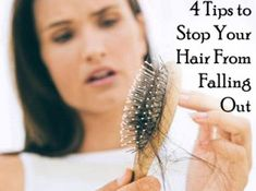 4 Tips to Stop Your Hair From Falling Out ~ Some good ideas. ~ I've also started taking Biotin and have seen a big improvement in my hair and nails! Limpieza Natural, Hair Falling Out, Natural Hair Styles, Long Hair Styles, Tips Belleza, Health And Beauty Tips, Hair Care Tips, Hair Health, Great Hair