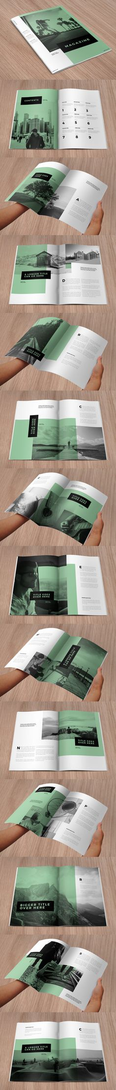 Clean, Modern and Simple Brochure Design Template InDesign INDD - 28 Custom Pages