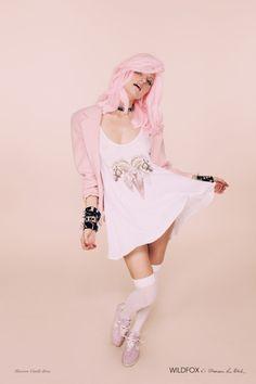 Wildfox Couture x Francesca Lia Block Unicorn Castle Dress