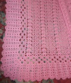 All'uncinetto rosa Baby Afghan bk121