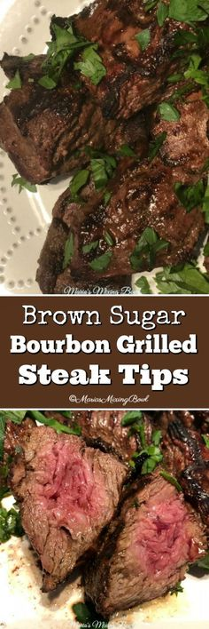 Five Approaches To Economize Transforming Your Kitchen Area Brown Sugar Bourbon Grilled Steak Tips - Flavorful And So Amazing. You Will Love This Tasty Marinade. It Has Become One Of Our Favorite Marinades. So Delicious Steak Tips, Steak Recipes, Grilling Recipes, Cooking Recipes, Beef Tips, Grilling Tips, Vegetarian Grilling, Healthy Grilling, Barbecue Recipes