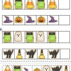 Use these Halloween shapes to create AB, ABB, AAB, and ABC patterns on the pocket chart.  There are 12 pieces for each of 5 shapes included.  $