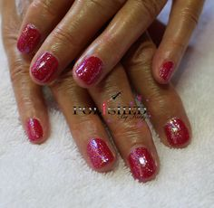 CND SHELLAC HOLLYWOOD WITH LECENTE BABY PINK GLITTER