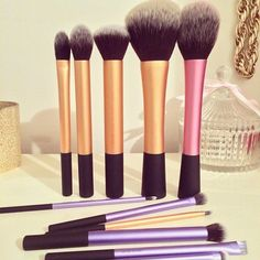 Searching for Eye shadow blending brushes etc. Also searching for blush brush. Love Real Techniques brushes