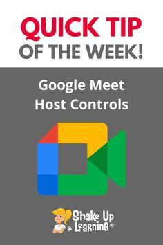 Google Meet Host Controls Free Teaching Resources, Teacher Resources, Student Presentation, Google Keep, Google Classroom, Educational Technology, Layout, Meet, Learning