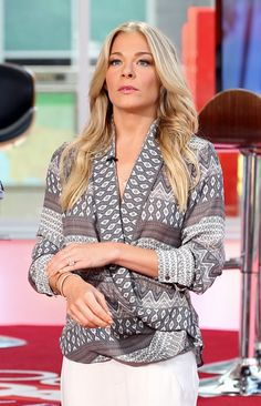 """Star struck. LeAnn Rimes is caught in the moment during an appearance on """"Hollywood Today Live"""" on July 30 in Hollywood, Calif."""