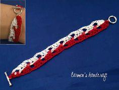 bratara-crosetata-26 Crochet Cord, Crochet Bracelet, Macrame Jewelry Tutorial, 8 Martie, Jewelry Patterns, Friendship Bracelets, Baba Marta, Textiles, Moldova