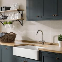 The gentle relief and irregular patterning is a softer take on the popular 'linear' style and in this neutral tone, they'll strike a calming note - exactly what's required if you're looking to balance timeless and contemporary design.While they are designed for bathroom walls, we think the simple charm of Linea will also make a great addition to any kitchen splashback. Galley Kitchen Design, Kitchen Room Design, Open Plan Kitchen, Modern Kitchen Design, Home Decor Kitchen, Diy Kitchen, Kitchen Interior, Home Kitchens, Very Small Kitchen Design