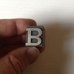 Vintage Letterpress Letter Initial B Pattern Printers Printing Lead Metal Block by afunspottoshop on Etsy