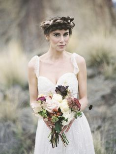 Rustic wedding ideas Wedding Blog, Dream Wedding, Wedding Ideas, Wedding Flowers, Wedding Dresses, Rustic Weddings, Bouquets, One Shoulder Wedding Dress, Braids