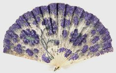 Fan  Artist/maker unknown, European or American  Geography: Made in United States, North and Central America or Europe Date: Late 19th - early 20th century Medium: Sheer silk plain weave with paint and metal sequins; bone sticks and guards