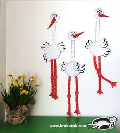 PAPER STORK children activities, more than 2000 coloring pages Animal Crafts For Kids, Spring Crafts For Kids, Fall Crafts, Art For Kids, Diy And Crafts, Diy Projects For Adults, Toilet Paper Crafts, Card Making Templates, Paper Birds