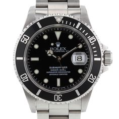 Rolex Submariner en acier Ref : 16610 Vers 1997                                                                                                                                                                                 Plus
