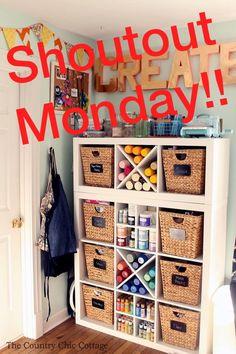 Ikea Kallax, Country Chic Cottage, Craft Storage, Holiday Decor, Crafts, Home Decor, Manualidades, Decoration Home, Room Decor