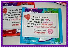 Great Valentine's Day idea- free printable for Fun Dip Valentines! (My kids will LOVE this!)