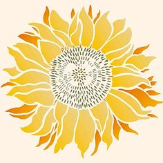 Large Sunflowers Stencil Designs And Signs Pinterest