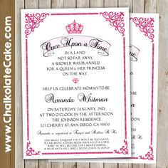 PRINCESS STORYBOOK Baby Shower Invitation, Royal Baby Shower, Once Upon A  Time, Elegant Baby Shower Printable