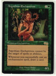 1998 Magic the Gathering Urza's Saga - Argothian Anchantress Rare Card #WizardsoftheCoast