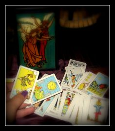 Tarot cards + Silk Scarf + Wooden Box