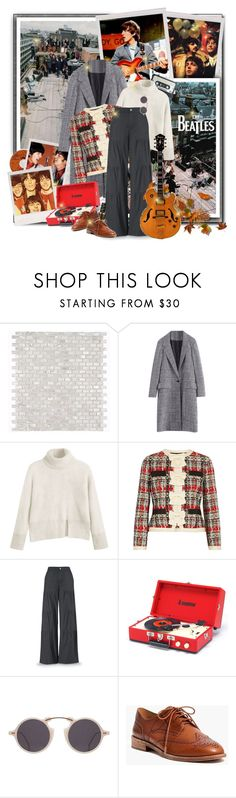 """""""Music inspiration: The Beatles"""" by beograd-love ❤ liked on Polyvore featuring Gucci, OPI, Madewell and vintage"""