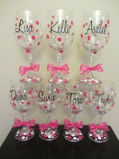 bachelorette party glasses   ... glasses- great for the wedding party, shower or bachelorette party