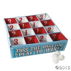 Carnival Table Tennis Toss Game - OrientalTrading.com