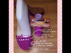 Zapatos tejidos (modelo encontrado en la red ) - YouTube