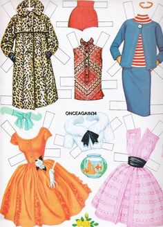 1962 Barbie paper doll clothes / eBay