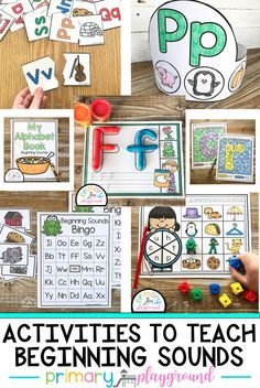 Activities to make teaching beginning sounds fun for your little learners! #beginningsounds #initialsounds #kindergarten #alphabet