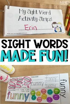 Sight word practice for kindergarten and first grade students learning sight words is fun with Sight Word Activitiy Strips. These sight word printables cover all Dolch Sight Word lists and double as sight word flashcards after students complete them. Dolch Sight Word List, Sight Word Flashcards, Sight Words List, Learning Sight Words, Sight Word Practice, First Grade Activities, Sight Word Activities, First Grade Classroom, Primary Classroom