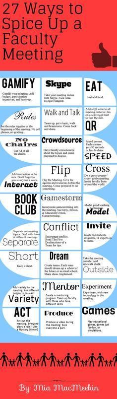 Erfolgreiche Mittel gegen Meetingitis in langweiligen #Meetings! #Infografic