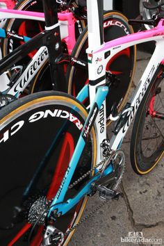 bd4fd0bce The seat stays are spaced very far apart on Lampre-ISD s Wilier Triestina  Twinfoil time trial bikes.