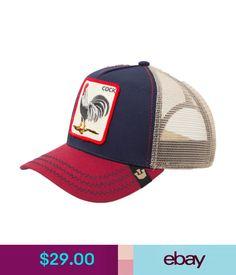 60a560f69bc Hats Goorin Bros. Animal Farm Trucker Snapback Hat Cap Rooster  Navy Red Tan