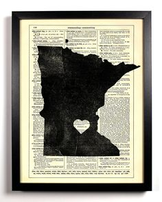 Minnesota State Dictionary Book Print Upcycled Book Art Upcycled Vintage Book Print Antique Dictionary Buy 2 Get 1 FREE. $6.99, via Etsy.