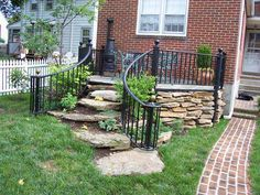 need small curved stair rail Hercules Fence | Maryland Aluminum Fencing | Virginia Aluminum Fences | Pennsylvania, Delaware, DC