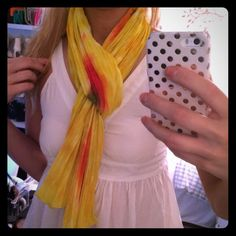 Yellow Abstract Scarf!