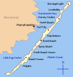 Long Beach Island, Nj  <3 The beach closest to us, kinda like the outer banks in NC.