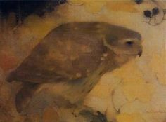... Owl On A Branch Artwork by Jan Mankes ...