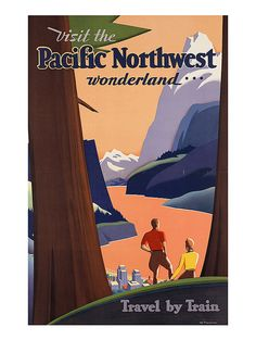 Vintage Art Deco Giclee Poster Print PACIFIC by EncorePrintSociety
