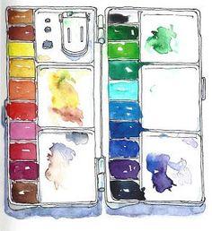 paleta de colors. Aquarel·lat