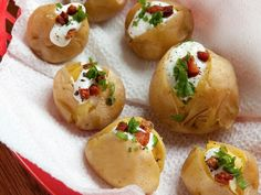 One-Bite Baked Potatoes and Sour Cream