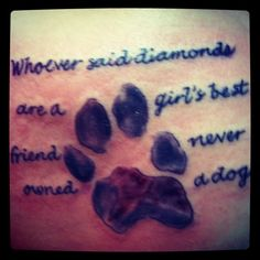 It's actually my dogs paw print too (: