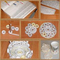 ARTE COM QUIANE - Paps,Moldes,E.V.A,Feltro,Costuras,Fofuchas 3D: Como fazer artesanato com jornal e ideias de trabalhos