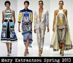 Mary Katrantzou Spring 2013  ~ postage stamps