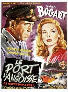 """""""To Have and Have Not"""" poster reprint 1945 Warner Bros.  #Bogart #Bacall #Old Hollywood"""