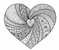 The Meaning of Love Adult Coloring Book: Love Themed Coloring Pages Accompanied with Quotes of Love (Coloring Books for Valentine's Day and Other Romantic Occasions) (Volume Penelope Pewter: Books Heart Coloring Pages, Printable Adult Coloring Pages, Mandala Coloring Pages, Colouring Pages, Coloring Books, Coloring Sheets, Free Coloring, Doodle Art Drawing, Zentangle Drawings