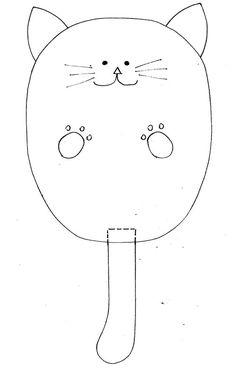 molde carteira gatinho Arte com Quiane
